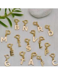 ciondolo Lettera Iniziale dell'alfabeto ciondoli charms argento 925 clip su Charms per braccialetti collana