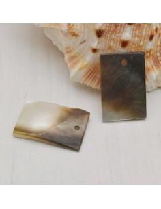 piastra di madreperla a un foro rettangolare 17 x 12 mm grigio chiaro fai da te