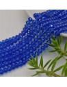 perline di cristallo cinese mezzi cristalli cipollotti 4.5 x 6 MM COL BLU 90 pz