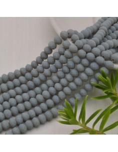 perline di cristallo cinese mezzi cristalli cipollotti 4.5 x 6 MM grigio chiaro opaco 90 pz