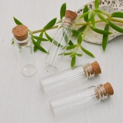 2 pz Bottiglietta in vetro bottiglie flaconi vasetti 11 X 40 MM