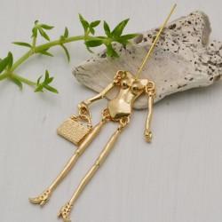 Base per corpo bambola Bambolina 20 x 80 mm col oro per le tue creazioni