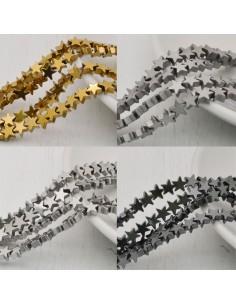 perle ematite stella distanziatore stalle 5 mm colore filo 40 cm