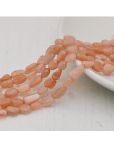 Pietre dure lepidocrocite Sasso Burattato qualità di gioielli 5-7 mm filo 40cm