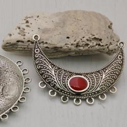 base orecchini collana Chandelier centrale con 7 fori 40 x 55 mm 2 pz per gioielli