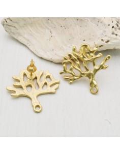 1 paio orecchini Perni forma albero della vita zama 25 mm per tuoi gioielli