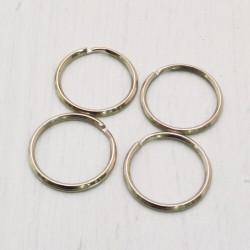 Anello Brisè portachiavi 20 mm Argento rodio in metallo 4 PZ