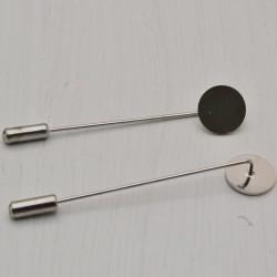 Base spilla ago con piastra 12 mm spille 6 cm chiusura perno in ottone confezione 2 pz
