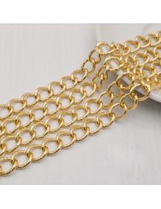 CATENA alluminio diamantata GROUMETTE 10 x13 mm 1mt per borse bigiotteria