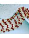 catena rosario cristalli 3 mm concatenata filo oro in ottone colore bordò