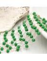 catena rosario cristalli 3 mm concatenata filo oro in ottone colore verde 50 cm