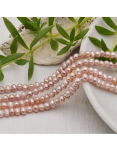filo Perle coltivate naturali Perle Tonde Rosa Pesca 3.5-4 mm 115 pz