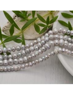 filo Perle coltivate naturali Perle Tonde grigio chiaro 4.5-5.5 mm 96 pz