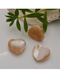 1 pz madreperla Naturale forma cuore liscio 15 mm per orecchini bracciali collana gioielli