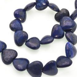 FILO Lapislazzuli Cuore Piatto liscio 20 mm 22 PZ orecchini bracciali collana gioielli