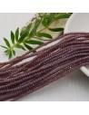cristalli 1.5 x 2.5 mm sfaccettati cipollotti rondelle viola scuro filo circa 180 pz