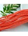 cristalli 1.5 x 2.5 mm sfaccettati cipollotti rondelle rosso arancione filo circa 180 pz