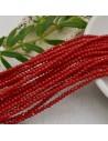 cristalli 1.5 x 2.5 mm sfaccettati cipollotti rondelle rosso pieno filo circa 180 pz