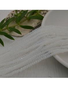cristalli 1.5 x 2.5 mm sfaccettati cipollotti rondelle COL OPALE filo circa 180 pz