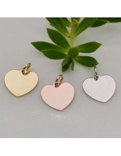 ciondolo cuore in argento 925 12 mm placcato oro oro rosa rodio per suo gioielli