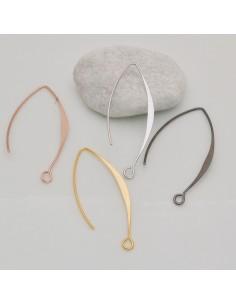 monachelle amo lunghe in ottone 15 x 40 mm per orecchini fai da te