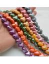 perle a cuore Perla in ceramica a cuore pompata e luminosa 13x15mm filo 20pz