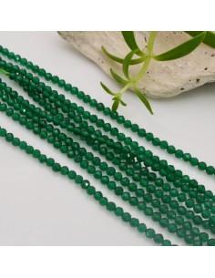 Filo pietra di 2 mm agata verde sfaccettata 170 PZ PER TUOI GIOIELLI