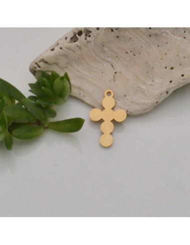 ciondolo a forma di croce in acciaio Lucido inox Inossidabile 10 x 16 mm liscio per fai da te
