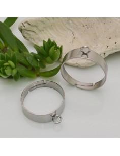 base anello in acciaio Inossidabile per CIONDOLO ANELLO REGOLABILE per fai da te