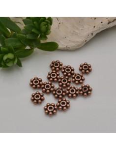 distanziatore forma a Fiore Fiocco Di Neve rame antico 6 mm in metallo 20 pz per fai da te