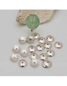 22 Pz copriperla Copri perline lisci 8 mm colore argento per fai da te