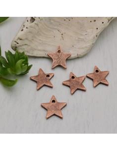 5 pz ciondolo stella rame antico 11 mm fai da te