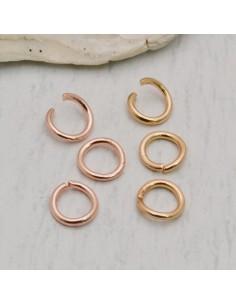 20 pz Anellini aperti in acciaio spessore filo 1 mm dimensione 6 mm fai da te