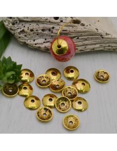 copriperla Copri perline lisci 8 mm 6 mm colore oro antico per fai da te