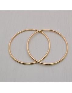 2 pz manici per borse Anello aperto col oro diametro 10 cm fatte a mano