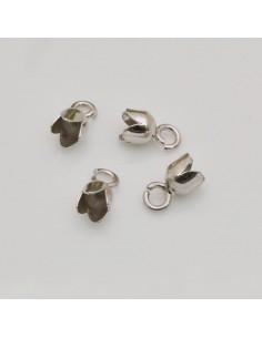 finali capicorda in argento 925 in colla 4 x 8 mm 10 pz per tuo gioielli