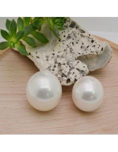 perle rotonda in madreperla mezzo foro in liscio idea per ciondolo orecchini