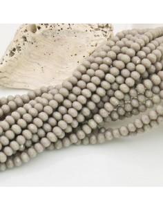 filo cristalli 3 x 4 mm beige Rondelle sfaccettato 150 pz per fai da te