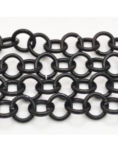 CATENA Alluminio Tonda liscia col nero NICHEl 1 mt per bigiotteria