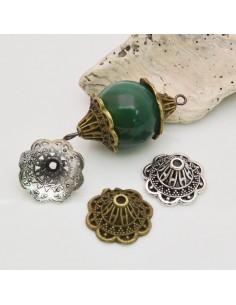 Copri perla con coni fantasia a coppette 18 mm Altezza 8 MM 4 pz