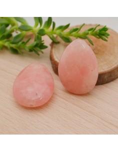 pietre dure a forma di goccia piatta g.rosa sfaccettata 18 x 25 MM per gioielli