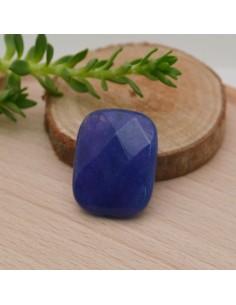 pietre dure a forma rettangolo sfaccettata piatta giada blu 15 x 20 mm per gioielli