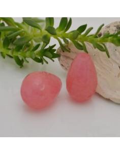 pietre dure a forma di goccia giada rosa sfaccettata 12 x 16 mm fai da te