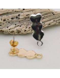 perni con 3 cuoricini liscio 8 x 22 mm un anello per ciondolo una coppia per fai da te