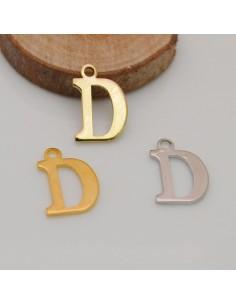 2 pz ciondoli forma D liscio 10 x 15 mm placcato oro argento fai da te