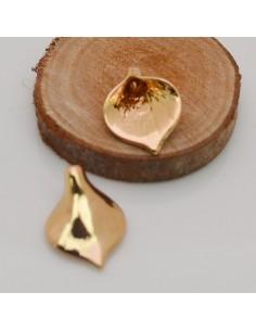 2 pz ciondoli forma a calla 14 x 18 mm placcato oro fai da te