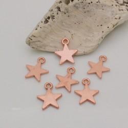 ciondoli a forma stelle in metallo col oro rosa liscio 12 x 16 mm per fai da te