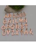 ciondoli a nome iniziali in acciaio lucido 6 x 10 mm con anellini 5 mm per bracciali collana orecchini per fai da te