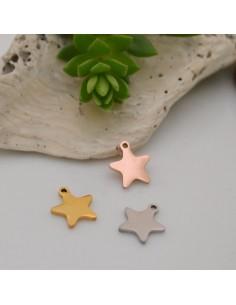 ciondolo stelle in acciaio inox inossidabile liscio con 8 x 9 mm per le tue creazioni