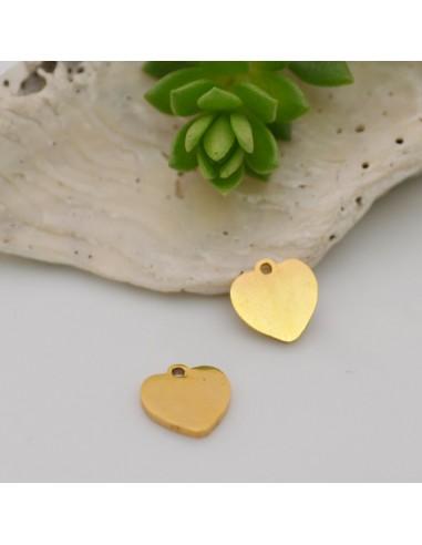 ciondolo cuore in acciaio inox inossidabile liscio con 8 mm per le tue creazioni